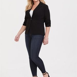 Torrid STUDIO GABARDINE MADISON BLAZER - BLACK